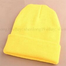 Men's Women Beanie Knit Ski Cap Hip-Hop Blank Color Winter Warm Unisex  Hat