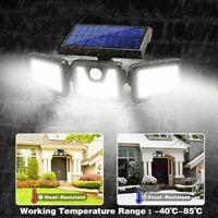 100 LED Outdoor Garden Solar Power Security Wall Light PIR Motion Sensor Lamp US