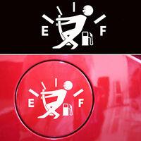 1x Funny Pull Fuel Tank Pointer To Full Hellaflush Vinyl Car Sticker Decal white