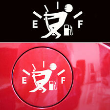 1x Funny Pull Fuel Tank Pointer To Full Hellaflush Vinyl Car Sticker Decal white