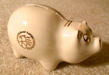 Vintage Ceramic Piggy Bank - PURDUE UNIVERSITY - Gilded Gold Lettering & Stopper