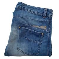 Diesel Industry Darron Jeans Mid Wash Slim Tapered Distressed Denim Mens 36 x 34