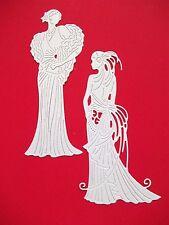 8 x New Release Tattered Lace Glitz & Glam Clara & Daisy Die Cuts. White