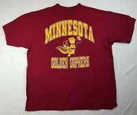Vintage T Shirt Golden Gophers University of Minnesota Red Graphic Size Men XXL
