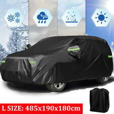 XC Car Cover 4 Layers Outdoor SUV Car Cover Universal Full Car Covers for Automobiles All Weather Waterproof UV Protection Windproof Rain Dust Scratch Snow Car Cover Fit SUV Large(190/'/'-201/'/')