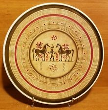 Keramikos Athens Greece Stylized Horses Wall plate / Serving platter, Excellent
