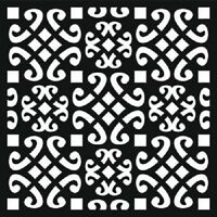 """THAT SPECIAL TOUCH OF Mica Masks LATTICE Emboss Approx 6"""" x 6""""  STENCIL"""