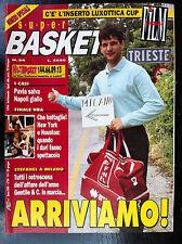SUPER BASKET 1994/24 con Inserto FILM DEL CAMPIONATO 93-94 , Stefanel Milano NBA