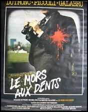 LE MORS AUX DENTS Affiche Cinéma ROULEE / Movie Poster DUTRONC PICCOLI FERRACCI
