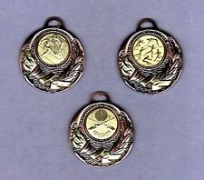 100 Schmuck Medaillen bronze mit Emblem Rottweiler + Band #600(Medaille Turnier)