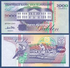 SURINAM / SURINAME 2000 Gulden 1995 UNC P.142