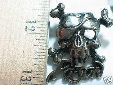 Poison Music Group Pin , Pirate Skull Pin , (large) (**)