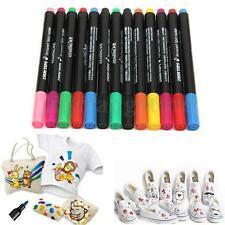 13 Colors Set T-Shirt Shoes Marker Graffiti Permanent Fabric Paint Pen DIY Tools