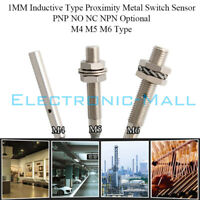 M4 M5 M6 1MM Inductive Type Proximity Metal Switch Sensor PNP NO NC NPN Optional