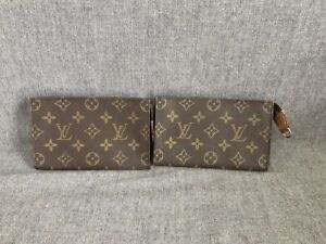Authentic Louis Vuitton Monogram Cosmetic Accessories Pouch 2 Pieces For Bucket