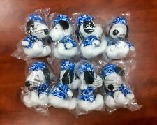 """Lot of 8 Peanuts MetLife 6"""" Plush Snoopy Dolls Military w/ Hat Free Shipping!"""