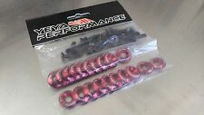 20 PCS  YP CONCAVE RED FENDER BOLT/WASHER DRESS UP KIT HONDA ACURA CIVIC RSX FIT