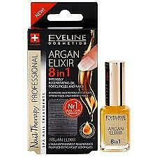 Eveline Argan Elixir 8 in 1 Intensely Regenerating Oil for Nails & Cuticles 12ml