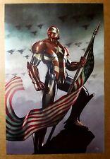 Avengers Iron Man Patriot American Flag Marvel Comics Poster by Adi Granov