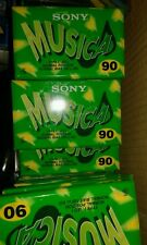 10 pz sony musica 90 min normal nuove sigillate cassette mc lotto stock mint