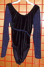 NWOT 'Major Motions' purple leotard with sparkling long sleeves Girls 12 14 A11