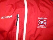 New W/O Tag Red KINGSTON VOYAGEURS Windbreaker Jacket Large CCM OJHL