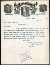 1893 Crane & Ordway Co Railway Supplies St Paul MN Vintage Letter Head Rare
