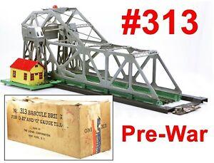 Lionel PW #313 Bascule Bridge w/Frame & Box Pre-War ?233/ 1940-1942