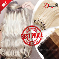 US THICK 300S Russian Remy Human NANO Loop Micro Ring Beads Hair Extensions P380
