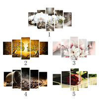 5x HD Framed Prints Modern Abstract Canvas Oil Painting Wall Art Decor