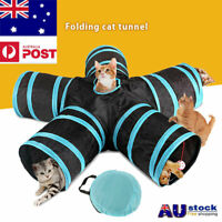 Pet Cat Kitten Puppy Tunnel Play Toy 5 WAY Foldable Exercise Tunnel Funny Toys a