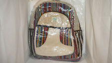 Backpack Bag Recycle Hemp Eco-Friendly Multicolor7 THC FREE Handmade