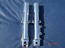 07-10 Chrome Harley Fork Legs Sliders Heritage FLSTC P/N 45500014 Exchange Only