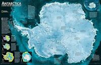 Antarctica Satellite, Tubed. Wall Maps Continents by National Geographic Maps (S