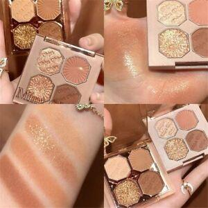 4 Colors Eyeshadow Palette Portable Makeup Matte Shimmer Eyeshadow Cosmetics