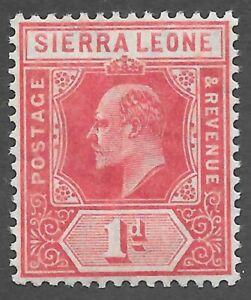 Sierra Leone (1907) - Scott # 91,   MNH