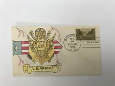 S3 WWII First Day Cover Hand Painted United States Army September 28 1945
