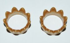 17060 Corona 9 picos dorada 2u playmobil,crown,anillo cabeza,rey,king