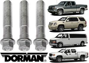 3 Pack Dorman 917-517 Front Wheel Hub Bolt For Select GM Trucks SUVs & Vans New