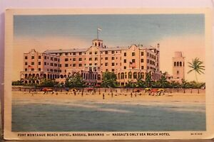 Bahamas Nassau Fort Montague Beach Hotel Postcard Old Vintage Card View Standard