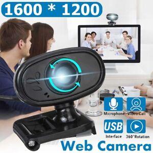 USB 2.0 Webcam Stand Kamera HD Camera Mit Mikrofon für Computer PC Laptop Mac DE