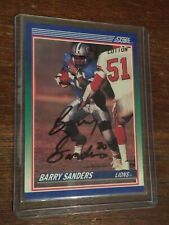 Barry Sanders Autograph Card Score #20 1st Year Card Signed@Spring Training 1990