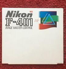 Nikon Werbedisplay für die F-401 AF   Hartpappe