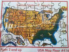 Jigsaw Puzzle United States America Jumbo Floor 48 Piece Melissa Doug NIB Sealed