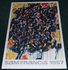 SAM FRANCIS COMPOSITION WATERCOLOR ON PAPER POSTER PRINT