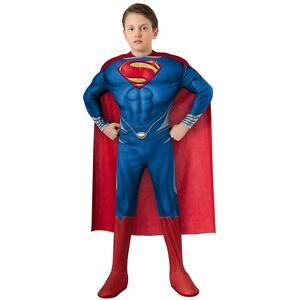 Man Of Steel Superman Childrens/Kids Halloween/Party Costume LARGE Superhero