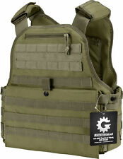 Barska Loaded Gear VX-500 Plate Carrier  Molle Vest OD Green BI12290