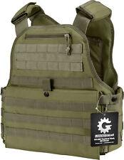 Barska Plate Carrier Tactical Vest Molle System OD Green BI12290