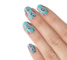 Elegant Touch False 24 Nails Club Tropicana Green Pink Flamingo Glue Buffer