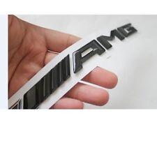 AMG Emblem Glänzend schwarz Zeichen aufkleber Schriftzug Mercedes Benz ///AMG